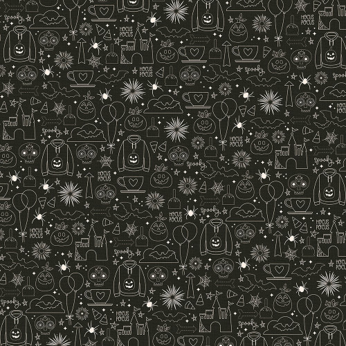 Say Cheese Halloween Collection Magical Night 12 x 12 Double-Sided Scrapbook Paper by Simple Stories