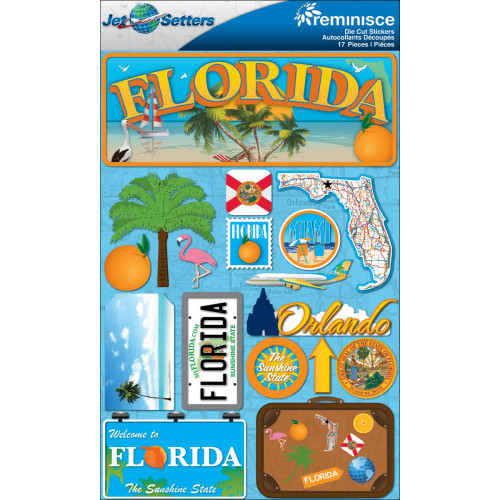 Jetsetter Collection Florida 5 x 7 Scrapbook Embellishment by Reminisce