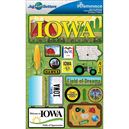 Jetsetter Collection Iowa 5 x 7 Scrapbook Embellishment by Reminisce