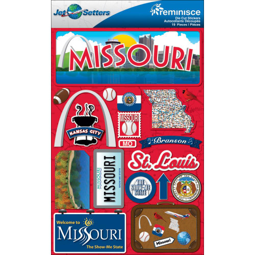 Jetsetter Collection Missouri 5 x 7 Scrapbook Embellishment by Reminisce