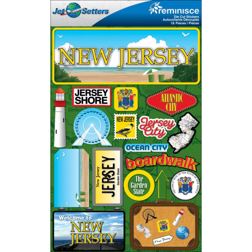 Jetsetter Collection New Jersey 5 x 7 Scrapbook Embellishment by Reminisce