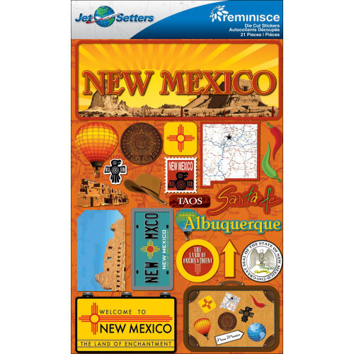 Jetsetter Collection New Mexico 5 x 7 Scrapbook Embellishment by Reminisce