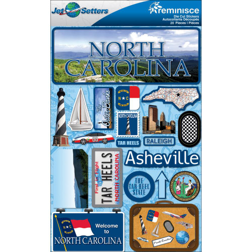 Jetsetter Collection North Carolina 5 x 7 Scrapbook Embellishment by Reminisce