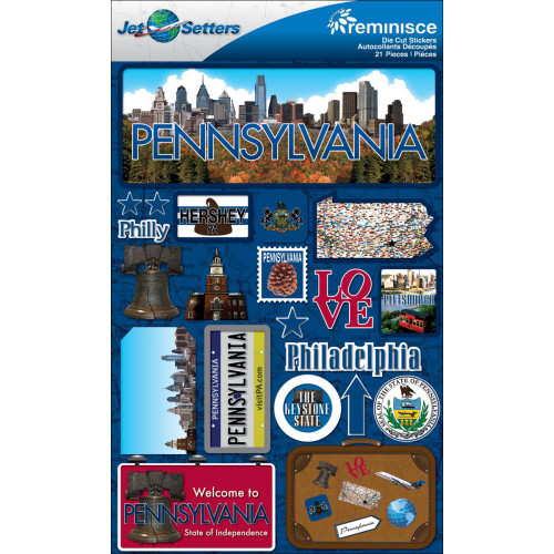 Jetsetter Collection Pennsylvania 5 x 7 Scrapbook Embellishment by Reminisce