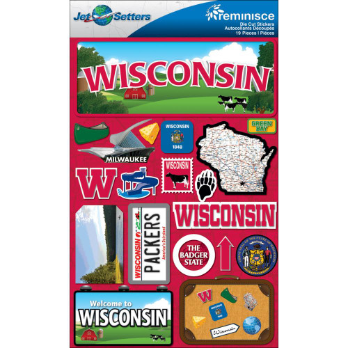 Jetsetter Collection Wisconsin 5 x 7 Scrapbook Embellishment by Reminisce
