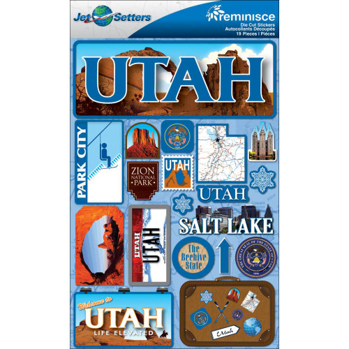 Jetsetter Collection Utah 5 x 7 Scrapbook Embellishment by Reminisce