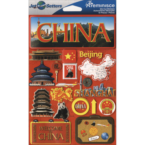 Jetsetter Collection China 5 x 7 Scrapbook Embellishment by Reminisce