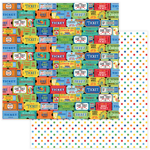 State Fair Collection Tickets 12 x 12 Double-Sided Scrapbook Paper by Photo Play Paper