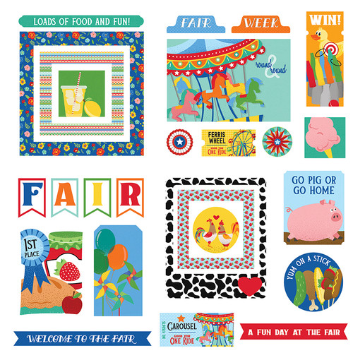 State Fair Collection Ephemera 5 x 5 Die Cut Scrapbook Shapes by Photo Play Paper