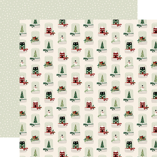 A Cozy Christmas Collection Snowflakes 12 x 12 Double-Sided Scrapbook Paper by Echo Park Paper