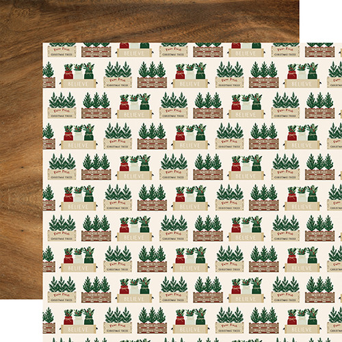 A Cozy Christmas Collection Warm Wishes 12 x 12 Double-Sided Scrapbook Paper by Echo Park Paper