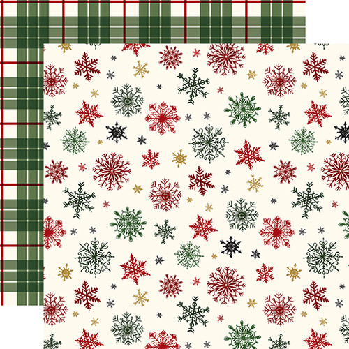 Here Comes Santa Claus Collection Holiday Greetings 12 x 12 Double-Sided Scrapbook Paper by Echo Park Paper