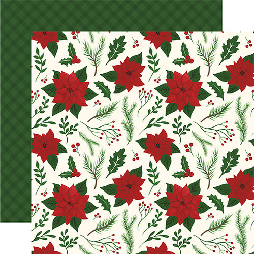 Here Comes Santa Claus Collection Merry & Bright 12 x 12 Double-Sided Scrapbook Paper by Echo Park Paper