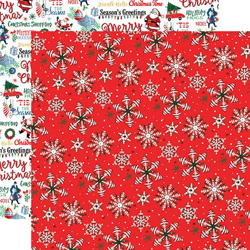 Merry Christmas Collection Christmas Snow 12 x 12 Double-Sided Scrapbook Paper by Carta Bella