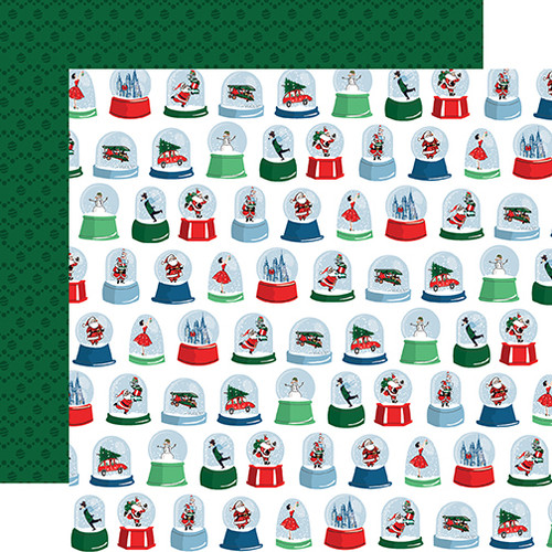 Merry Christmas Collection Snow Globes 12 x 12 Double-Sided Scrapbook Paper by Carta Bella