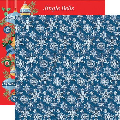 Merry Christmas Collection Snowflakes 12 x 12 Double-Sided Scrapbook Paper by Carta Bella