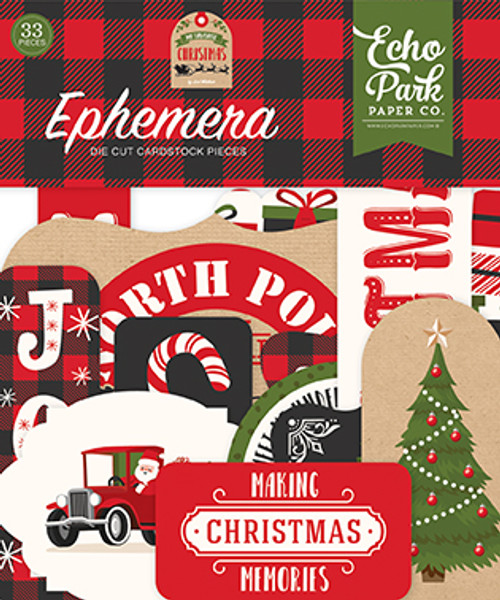My Favorite Christmas Collection 4 x 4 Ephemera Die Cut Scrapbook Embellishments by Echo Park Paper