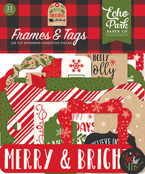 My Favorite Christmas Collection 4 x 4 Frames & Tags Die Cut Scrapbook Embellishments by Echo Park Paper