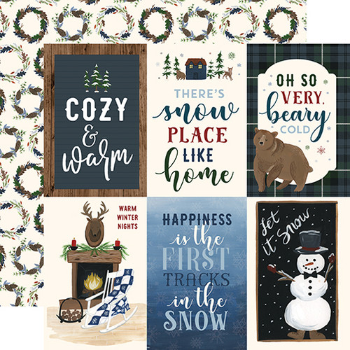 Warm & Cozy Collection 4 x 6 Journaling Cards 12 x 12 Double-Sided Scrapbook Paper by Echo Park Paper