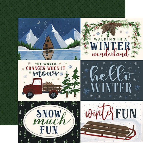 Warm & Cozy Collection 6 x 4 Journaling Cards 12 x 12 Double-Sided Scrapbook Paper by Echo Park Paper