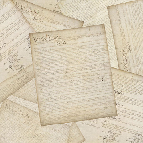 Washington DC Collection The Constitution 12 x 12 Scrapbook Paper by Scrapbook Customs