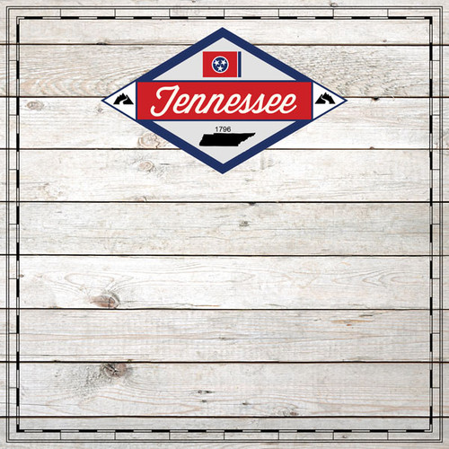Sightseeing Collection Tennessee Wood 12 x 12 Scrapbook Paper by Scrapbook Customs