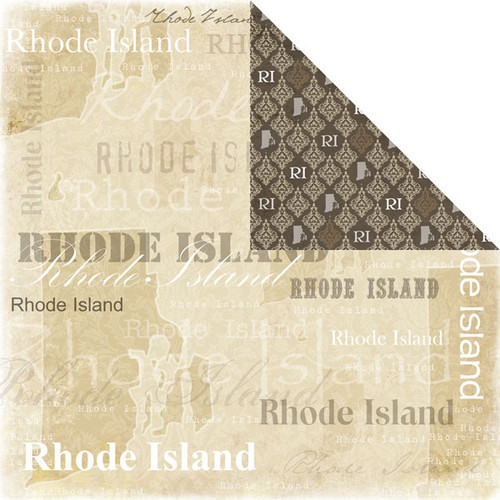 Lovely Travel Collection Rhode Island 12 x 12 Double-Sided Scrapbook Paper by Scrapbook Customs
