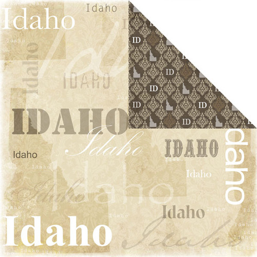 Lovely Travel Collection Idaho 12 x 12 Double-Sided Scrapbook Paper by Scrapbook Customs