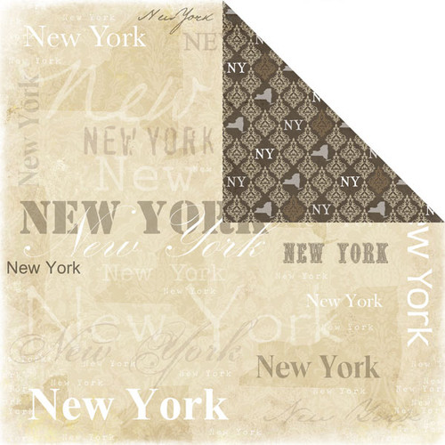 Lovely Travel Collection New York 12 x 12 Double-Sided Scrapbook Paper by Scrapbook Customs