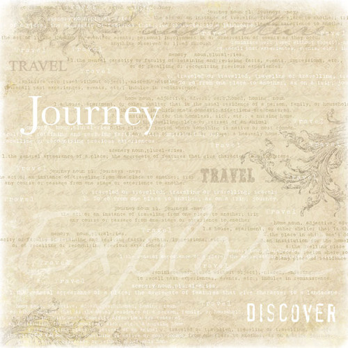 Lovely Travel Collection Travel Companion 12 x 12 Scrapbook Paper by Scrapbook Customs