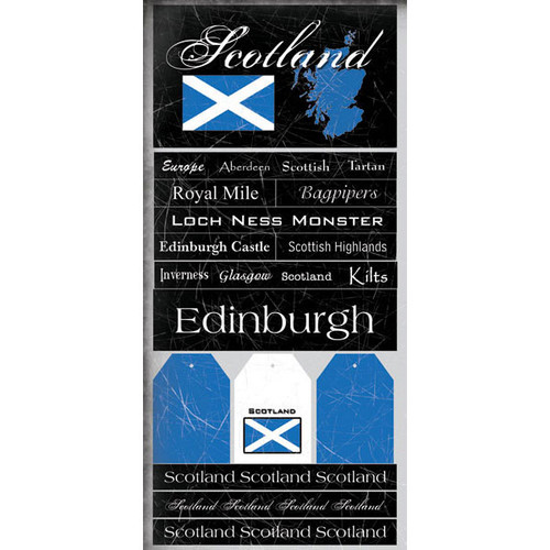 Scotland Collection 6 x 12 Scrapbook Sticker Sheet by Scrapbook Customs