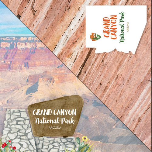 National Park Collection Grand Canyon National Park 12 x 12 Double-Sided Scrapbook Paper by Scrapbook Customs