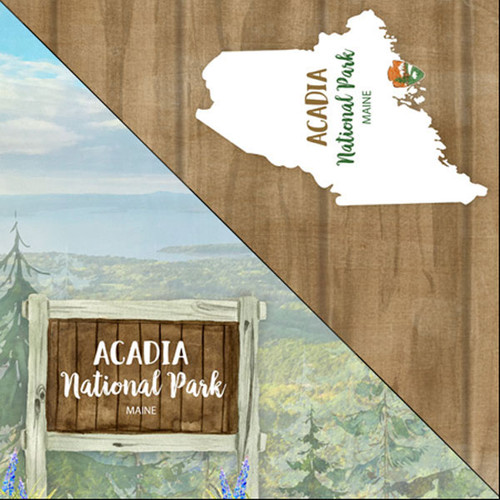 National Park Collection Acadia National Park 12 x 12 Double-Sided Scrapbook Paper by Scrapbook Customs