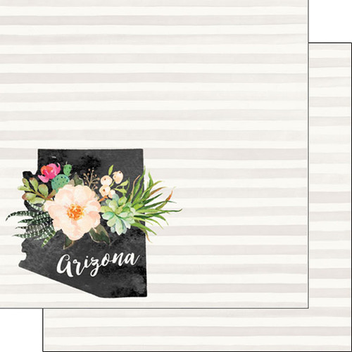 Watercolor Collection Arizona 12 x 12 Double-Sided Scrapbook Paper by Scrapbook Customs