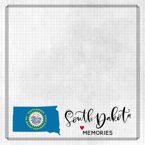 Travel Adventure Collection South Dakota Memories 12 x 12 Double-Sided Scrapbook Paper by Scrapbook Customs
