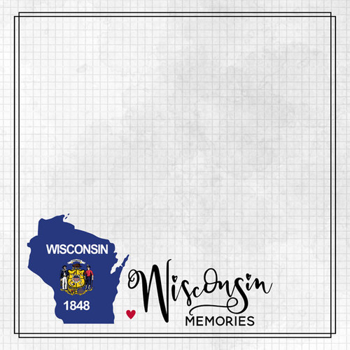 Travel Adventure Collection Wisconsin Memories 12 x 12 Double-Sided Scrapbook Paper by Scrapbook Customs
