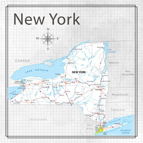 Travel Adventure Collection New York Memories Map 12 x 12 Double-Sided Scrapbook Paper by Scrapbook Customs