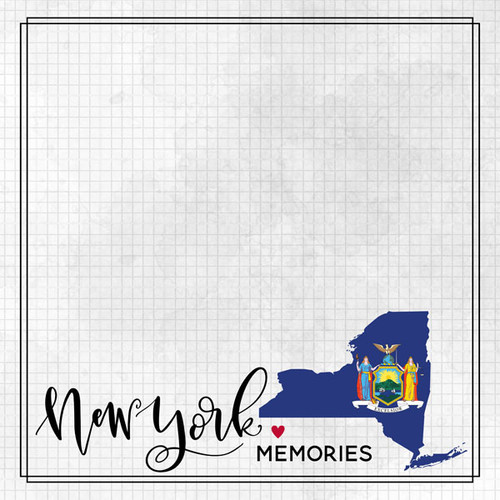 Travel Adventure Collection New York Memories 12 x 12 Double-Sided Scrapbook Paper by Scrapbook Customs
