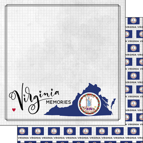 Travel Adventure Collection Virginia Memories 12 x 12 Double-Sided Scrapbook Paper by Scrapbook Customs