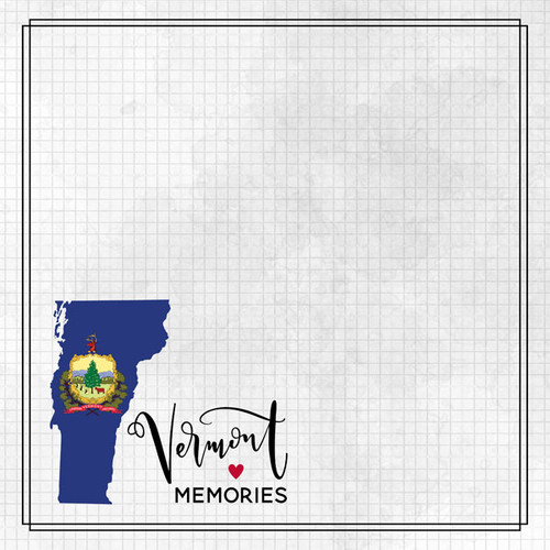 Travel Adventure Collection Vermont Memories 12 x 12 Double-Sided Scrapbook Paper by Scrapbook Customs