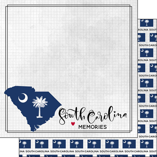 south carolina scrapbooking, south carolina scrapbook paper, scrapbook customs paper, scrapbook customs south carolina