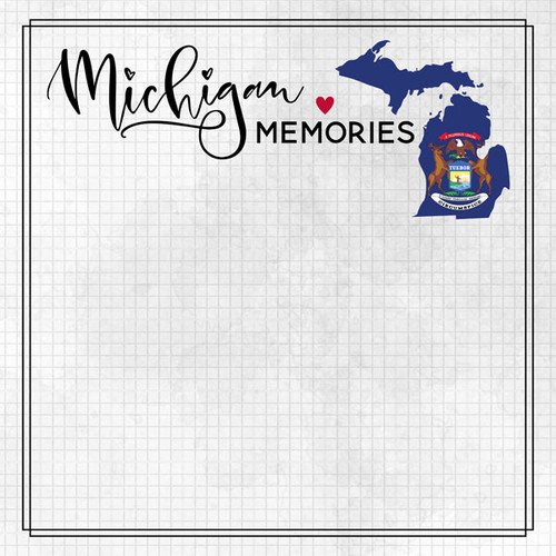 Travel Adventure Collection Michigan Memories 12 x 12 Double-Sided Scrapbook Paper by Scrapbook Customs