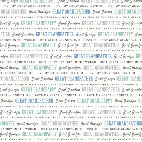 Family Pride Collection Great Grandfather 12 x 12 Double-Sided Scrapbook Paper by Scrapbook Customs