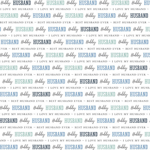 Family Pride Collection Husband 12 x 12 Double-Sided Scrapbook Paper by Scrapbook Customs