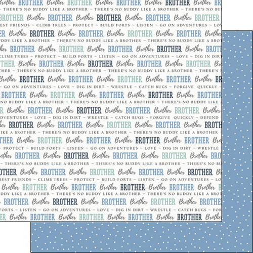 Family Pride Collection Brother 12 x 12 Double-Sided Scrapbook Paper by Scrapbook Customs