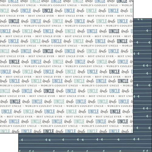 Family Pride Collection Uncle 12 x 12 Double-Sided Scrapbook Paper by Scrapbook Customs