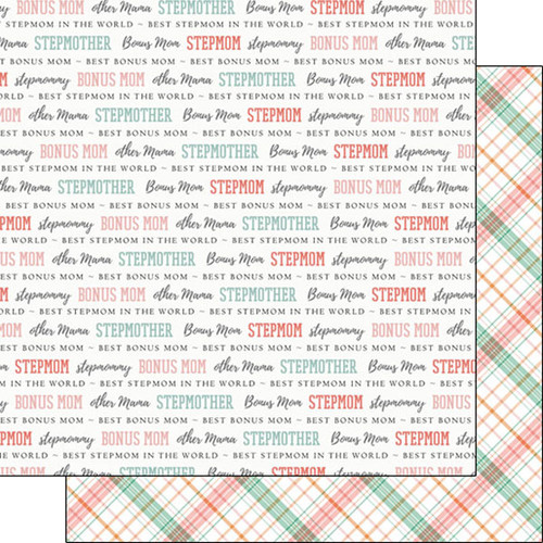 Family Pride Collection Stepmom 12 x 12 Double-Sided Scrapbook Paper by Scrapbook Customs