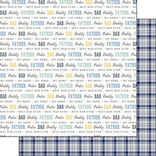Family Pride Collection Dad 12 x 12 Double-Sided Scrapbook Paper by Scrapbook Customs