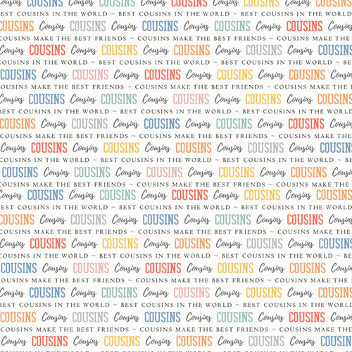 Family Pride Collection Cousins 12 x 12 Double-Sided Scrapbook Paper by Scrapbook Customs