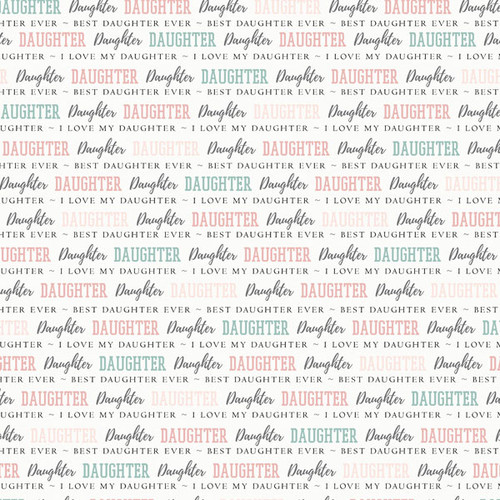 Family Pride Collection Daughter 12 x 12 Double-Sided Scrapbook Paper by Scrapbook Customs